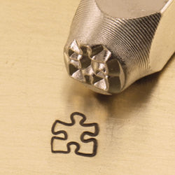 ImpressArt Metal Design Stamp,  6mm PUZZLE Piece   tol0051
