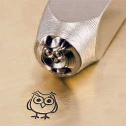 ImpressArt Metal Design Stamp,  6mm HOOTIE OWL   tol0027