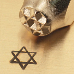 ImpressArt Metal Design Stamp,  6mm STAR OF DAVID   tol0153