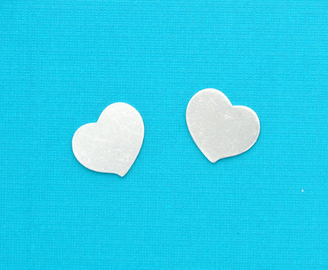 "10 Unfinished Aluminum Metal Stamping Blanks Charms 3/4"" SWIRLY HEART TAGS 20 gauge . msb0083"