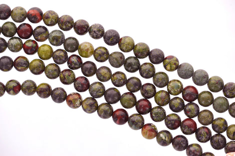 4mm Round DRAGON BLOOD JASPER Beads, Bloodstone Natural Gemstones, full strand, about 95 bead, gja0106