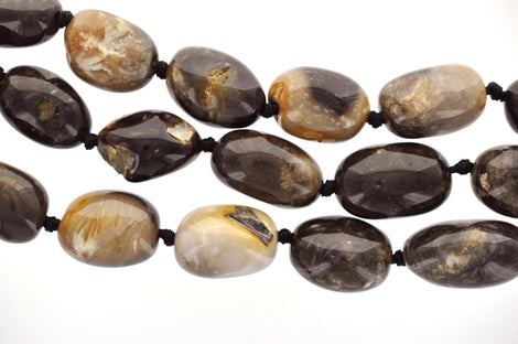 "2 Large Chunky BRAZILIAN AGATE Nugget Beads, 25x16mm  (1"" long) Natural Gemstones gag0059"