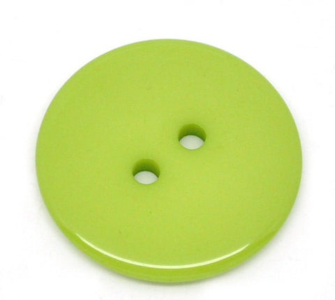 10 Round LIME GREEN Buttons for Jewelry Making, Scrapbooking, Sewing . 23mm  but0088