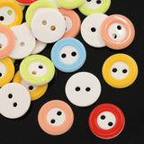 20 ROUND Mixed Colors 2-Tone Buttons for Jewelry Making, Scrapbooking, Sewing . 13mm but0126