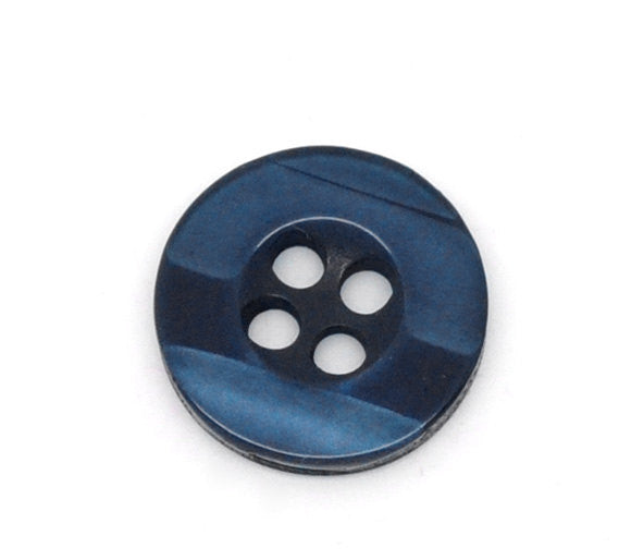 20 ROUND Dark Blue-ish Black Buttons for Jewelry Making, Scrapbooking, Sewing . 11mm  but0103