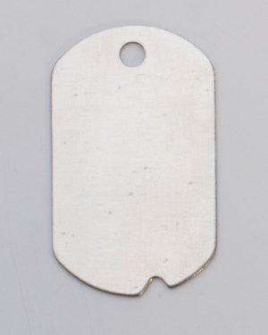 6 LARGE NICKEL SILVER Dog Tag with Notch and Hole Design Metal Stamping Blanks, 24 gauge . msb0085