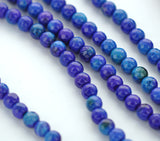 "1 Strand 15.5"" Round Dyed FACETED Blue and Purple AGATE Beads 6mm  Natural Gemstones gag0113"