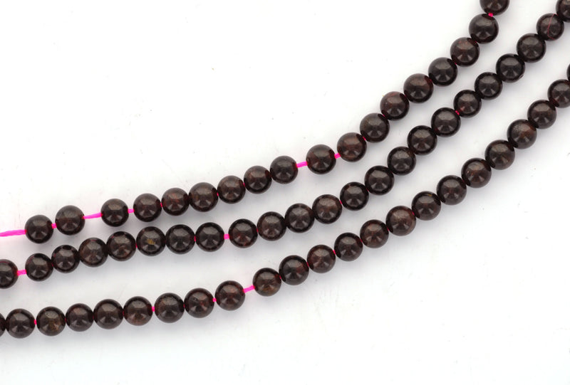 6mm Round Dark RED GARNET Beads, FULL strand, about 68 beads gga0008b