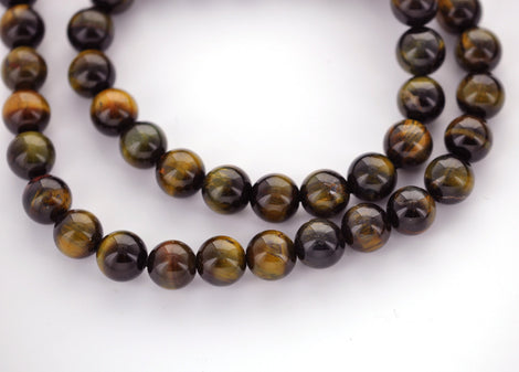 4mm Round TIGER EYE Beads, natural gemstone beads, full strand, about 91 beads, gte0008