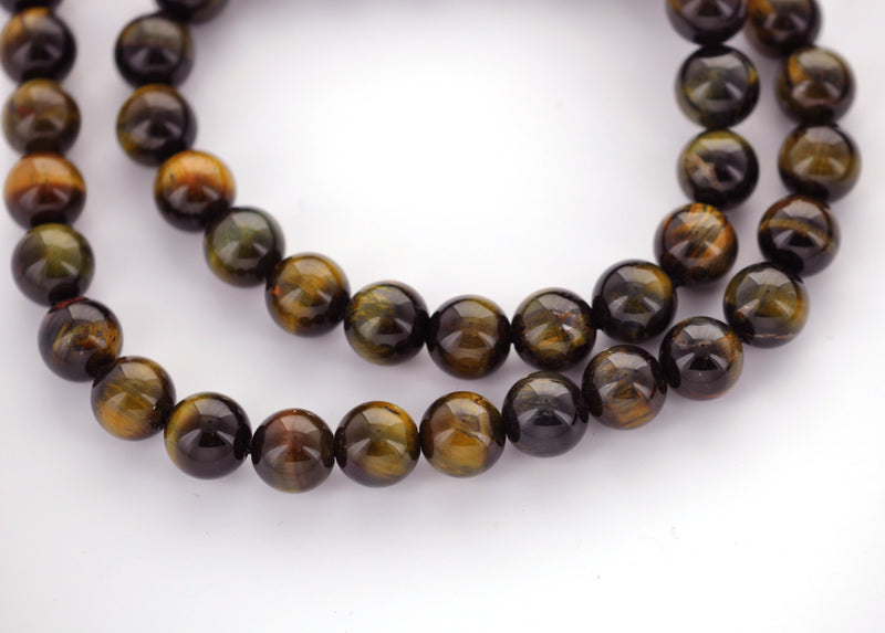 14mm Round TIGER EYE Beads, natural gemstone beads, full strand, about 28 beads, gte0010