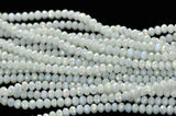 4mm WHITE AB Faceted Glass Crystal Rondelle Beads, full strand, about 100 beads, bgl1057b