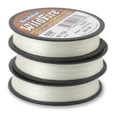 20 yards BEADALON WILDFIRE FROST White Bead Weaving Thread, .008 in, 0.20mm, 12 lb, wir0038