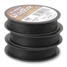 50 yards BEADALON WILDFIRE BLACK Bead Weaving Thread, .008 in, 0.20mm, 12 lb, wir0028