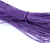 80 meters (262 feet) Sheaf of Cotton Waxed Cord, GRAPE PURPLE 1mm  cor0007