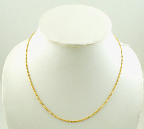 "10 Bright Gold Plated BALL CHAIN Necklaces, lobster clasp, 16"" long 1.5mm  fch0084"