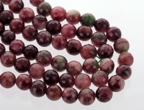 12mm Round Faceted WATERMELON AGATE Gemstone Beads, full strand, gag0097b