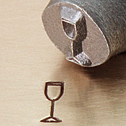 ImpressArt Metal Design Stamp,  6mm CHAMPAGNE GLASS tol0131