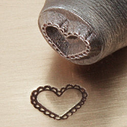 ImpressArt Metal Design Stamp, 6mm LACE HEART tol0209
