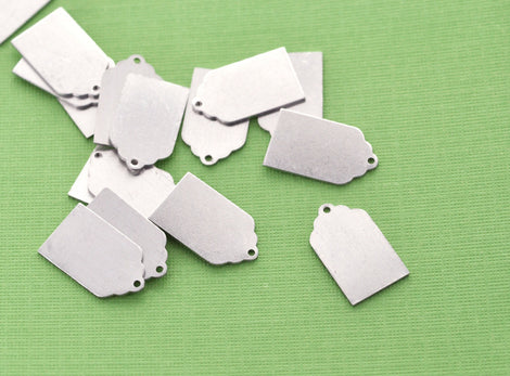 10 pcs. ImpressArt Soft Strike ALUMINUM (tm) Metal Stamping Blanks Charms 21mm x 12mm Rectangle Tag, 20 gauge  MSB0004