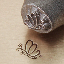 ImpressArt Metal Design Stamp,  6mm BUTTERFLY SWIRL 2 tol0102