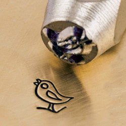 ImpressArt Metal Design Stamp,  6mm SONG BIRD  tol0117