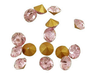 pp14 LIGHT ROSE PINK Rhinestone Chatons - Grade A Glass, Quality Machine Cut Crystal 144 pcs  1 gross, Small   cry0056
