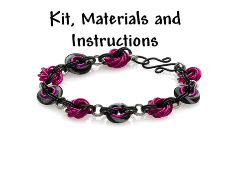 DIVA Inspiral Weave Bracelet Chain Mail Weave Got Maille Kit, includes materials, full color instructions kit0039