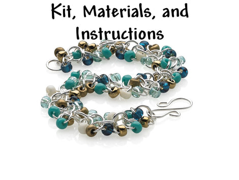SEDONA Shaggy Loops Bracelet Chain Mail Weave Got Maille Kit, includes materials, full color instructions kit0043