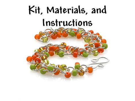 JAMAICAN JOY Shaggy Loops Bracelet Chain Mail Weave Got Maille Kit, includes materials, full color instructions kit0042