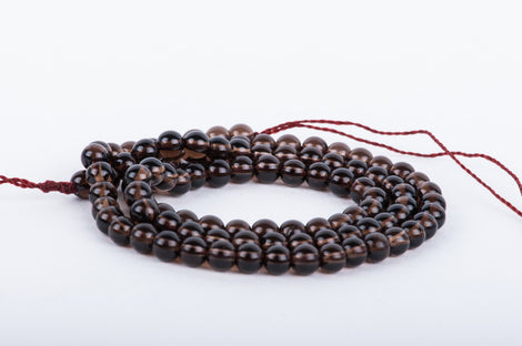 "4mm SMOKY QUARTZ  Round Beads, gray, 16"" strand gqz0017"