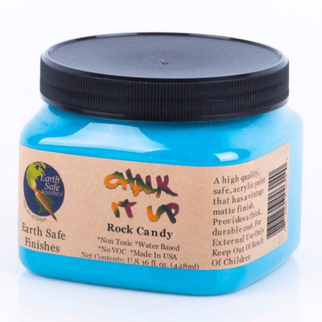 Non Toxic Chalk It Up Acrylic Paint, 16 oz. jar, no Voc, water based, ROCK CANDY
