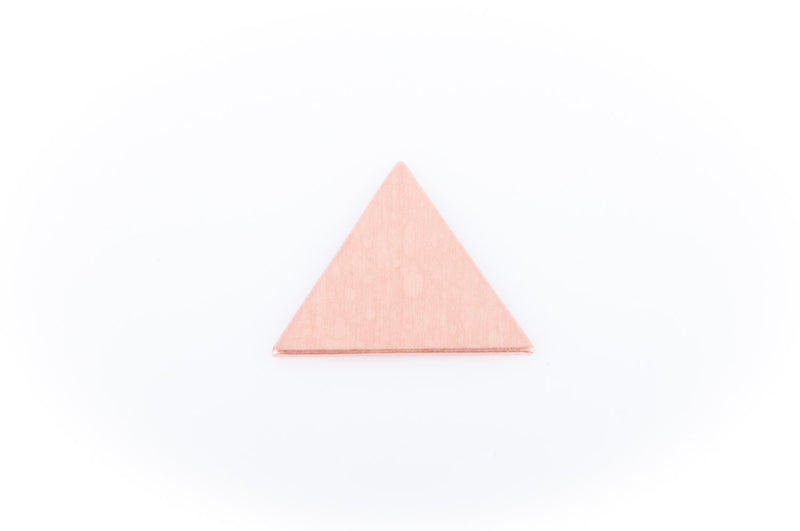 "10 Bright COPPER TRIANGLE Geometric Shapes, Metal Stamping Blanks, Charms, Pendants 17mm (about 5/8"") msb0064"