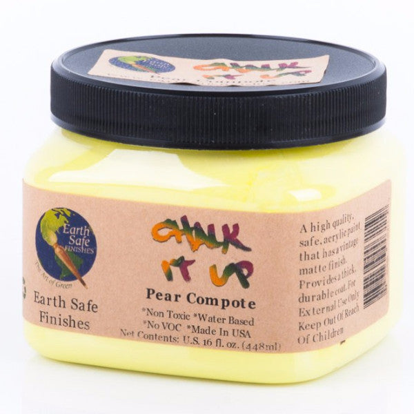 Non Toxic Chalk It Up Acrylic Paint, 16 oz. jar, no VOC, water based, PEAR COMPOTE