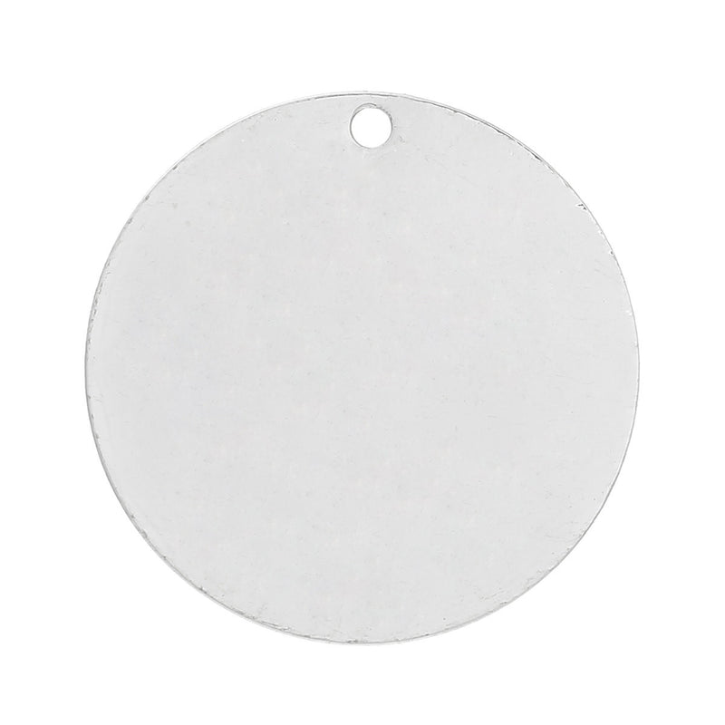 "10 Bright Silver Plated Circle Disc Metal Stamping Blanks, 22 gauge, 3/4"" diameter (20mm)  MSB0124"