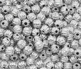 4mm Antique Silver Tone Corrugated Round Metal Spacer Beads, 300 pcs, BME0037