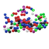 500 Round Acrylic Beads, matte rubber coating  6mm  bulk package bac0054