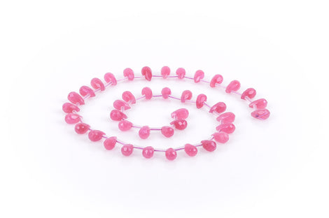 5 RASPBERRY HOT PINK Jade Teardrop Beads, 10x5.5mm gjd0032