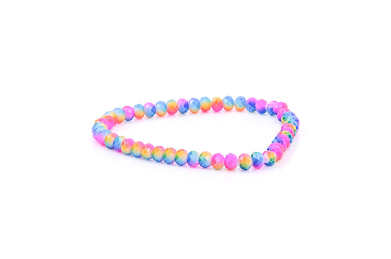 1 Strand 8x6mm Crystal Beads, Rondelle PINK, BLUE, Yellow, Green MARBLE bgl0352