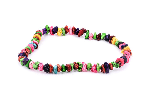 1 Strand Magnesite BRIGHT Colors NUGGET Beads .  how0297