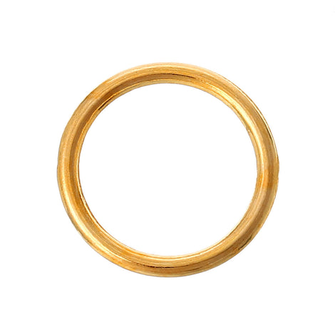 200 Bulk Package Large Gold Plated 16mm Soldered Closed Jump Rings, 15 gauge wire  jum0085b