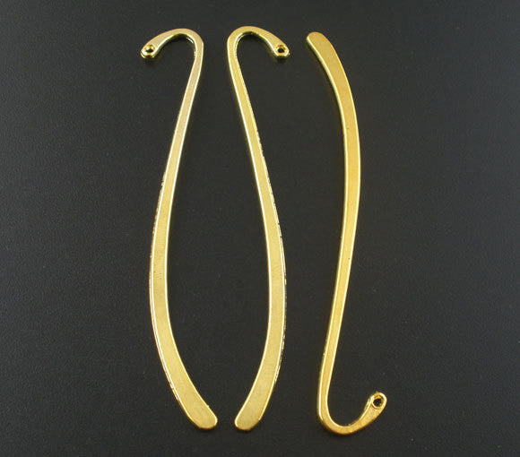 2 Bright Gold Blank Bookmark Findings 87mm  fin0252