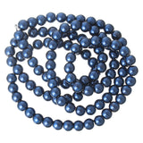 50 8mm NAVY BLUE Round Glass Pearl Beads  bgl0711