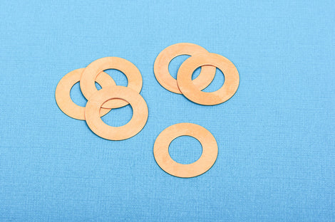"10 pcs Open WASHER Donut Shape BRASS Metal Stamping Blanks Charms 1"" (25mm), 24 gauge MSB0143"