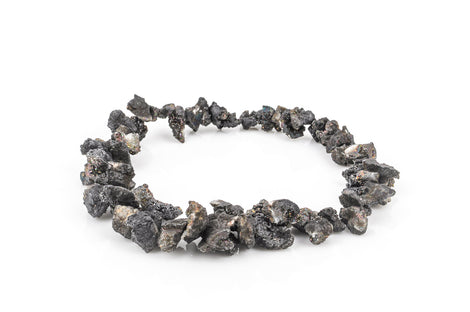 Half Strand Nugget Beads, Titanium Coated Crystal DRUZY AGATE Geodes, BLACK gdz0022