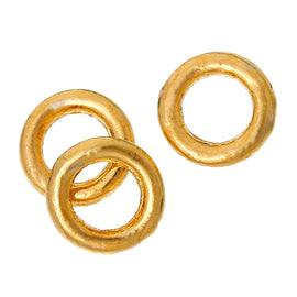 50 4mm Gold Plated Soldered Closed Jump Rings, 19 gauge  jum0089a