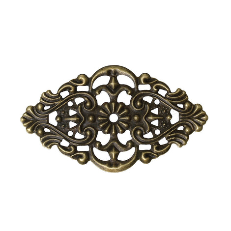 10 Antique Bronze Metal Filigree Rhombus Embellishment Findings  fil0049a
