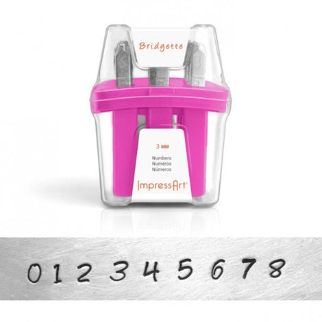 ImpressArt Metal Number Stamping Set, 3mm BRIDGETTE  tol0146