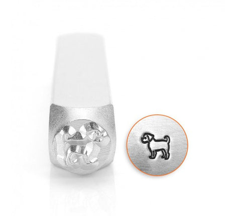 ImpressArt Metal Design Stamp,  6mm PUGGLE Dog  tol0112