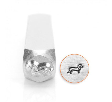 ImpressArt Metal Design Stamp,  6mm DACHSHUND Dog tol0111