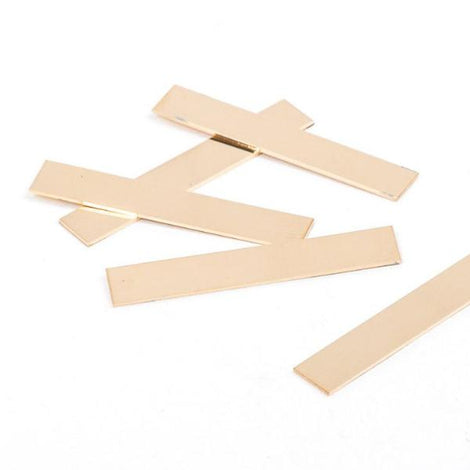"2 Gold Filled Rectangle Metal Stamping Blanks, 14k, for bar pendants, double clad, 22 gauge, 1.5"" x 1/4"" pmg0005"